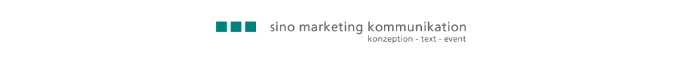sino marketing kommunikation | konzeption text event